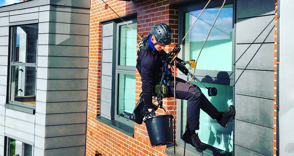 Abseiling/Rope Access Window Cleaning in Manchester and the Northwest - HCS Cleaning Services