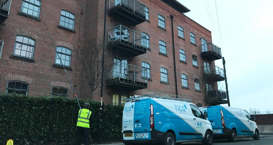 Commercial Window Cleaning in Manchester and the North West - HCS Cleaning Services