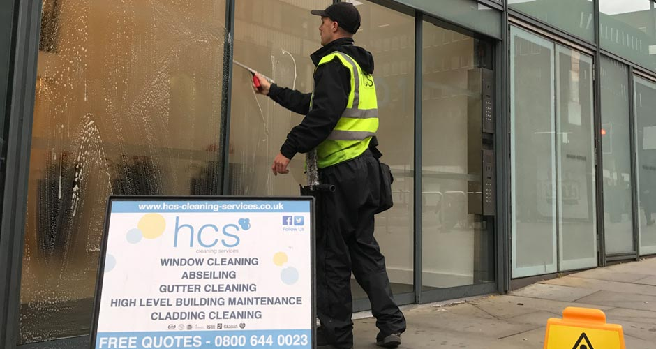 Traditional Window Cleaning in Manchester and the Northwest - HCS Cleaning Services