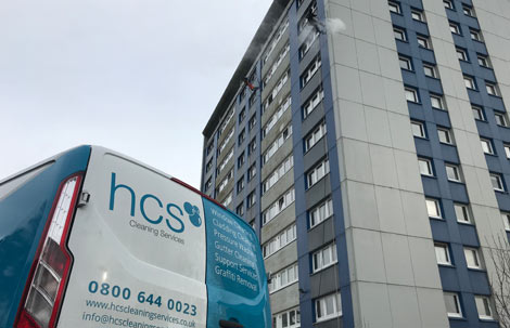 Abseil Cladding Cleaning in Preston - HCS Cleaning Services