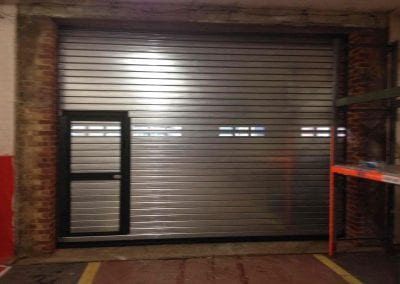Wicket Gate in Insulated Roller Shutter - interior view